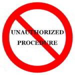 procedura non autorizzata