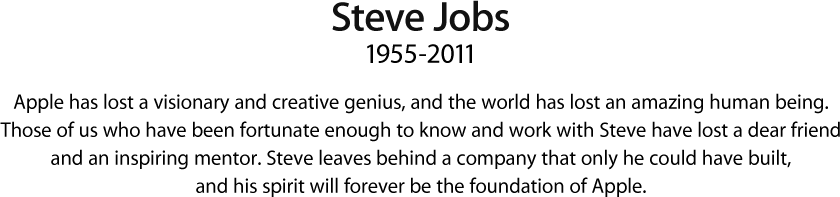 steve jobs epitaffio Apple