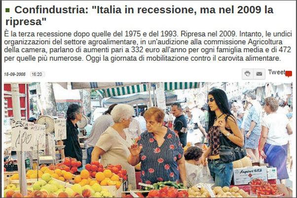 ripresa economica nel 2009