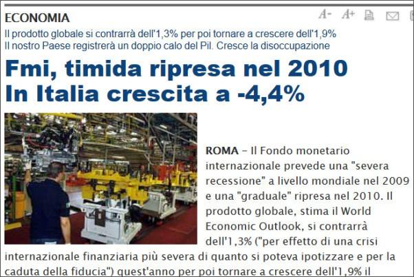 ripresa economica nel 2010