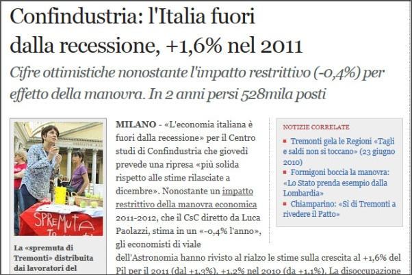 ripresa economica nel 2011