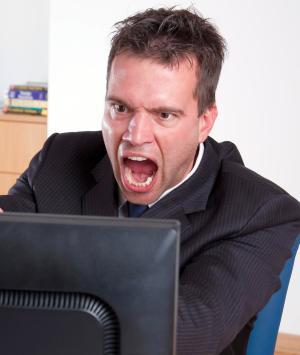 utente arrabbiato
