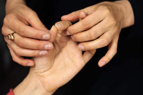 test delle dita
